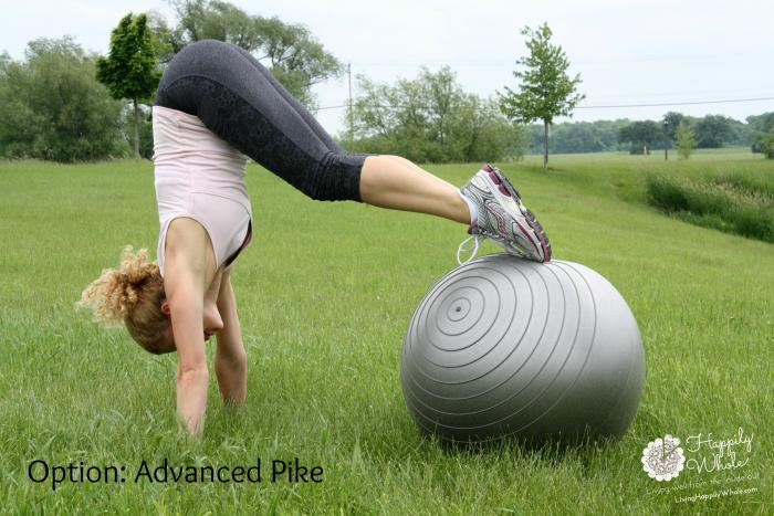 Stability Ball Optional Advanced Pike