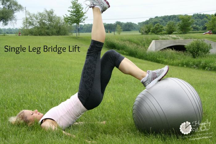 Stability Ball OPTIONAL single leg bridge