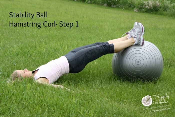 Stability Ball Hamstring Curl-1
