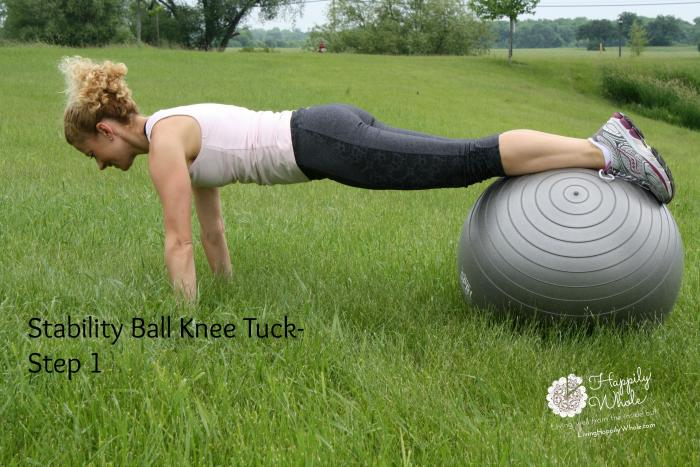 Stability Ball Knee Tuck 1