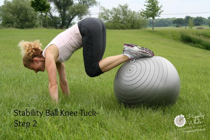Stability Ball Knee Tuck 2