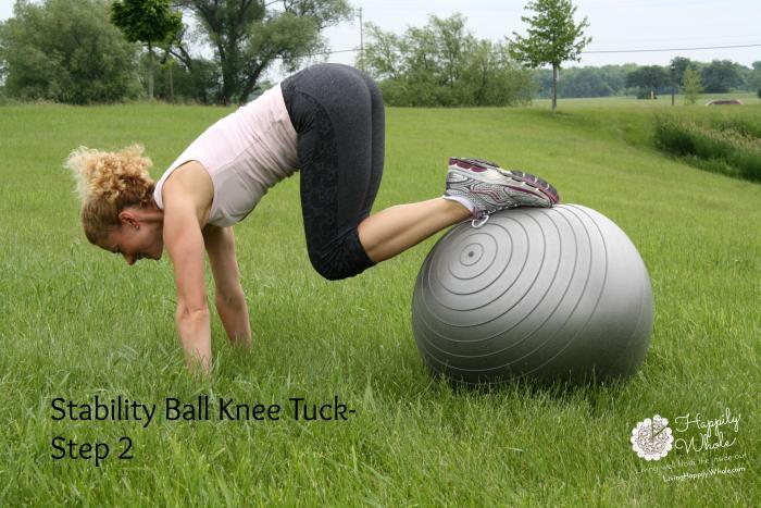 Stability Ball Knee Tuck 2