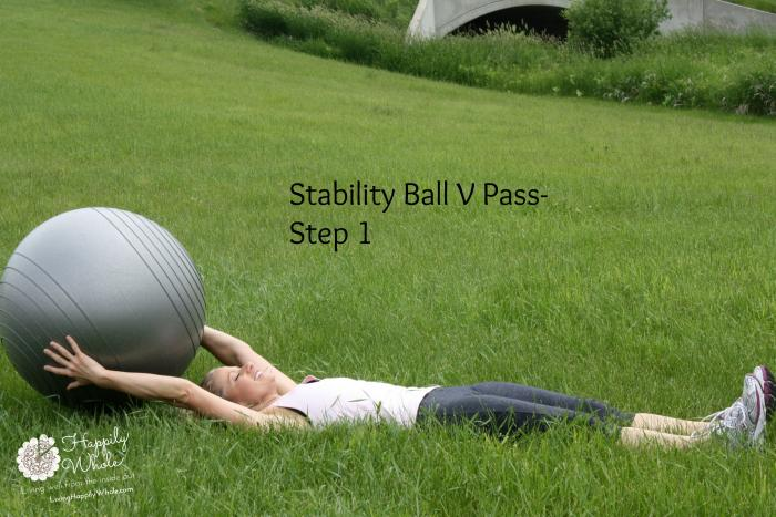 Stability Ball V Pass Step 1