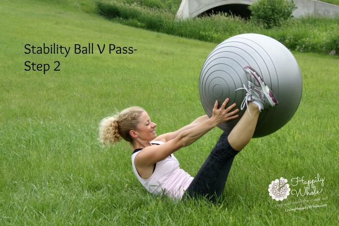 Stability Ball V Pass Step 2