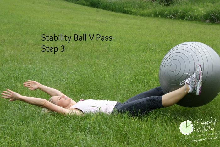 Stability Ball V Pass Step 3