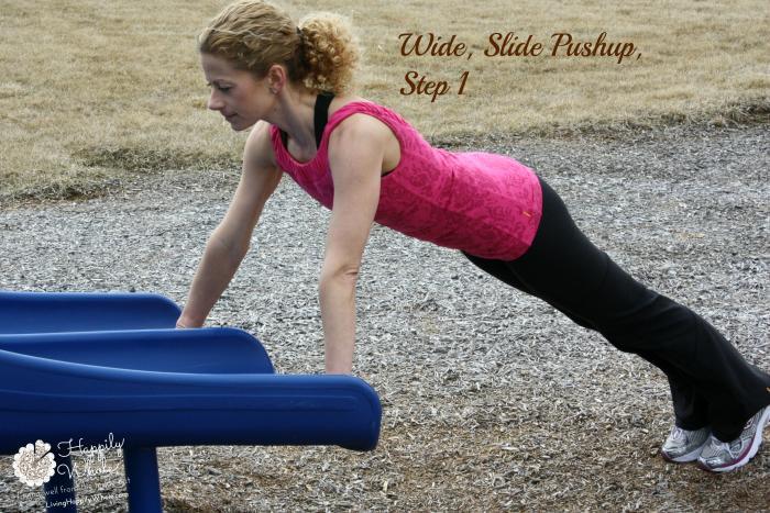 Wide Slide Pushup