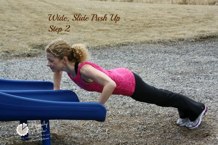 Wide Slide Push up, Step 2
