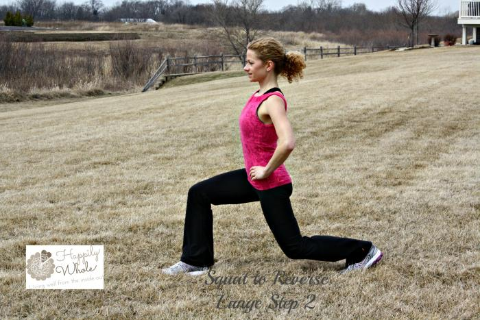 Squat to Reverse Lunge Step 2
