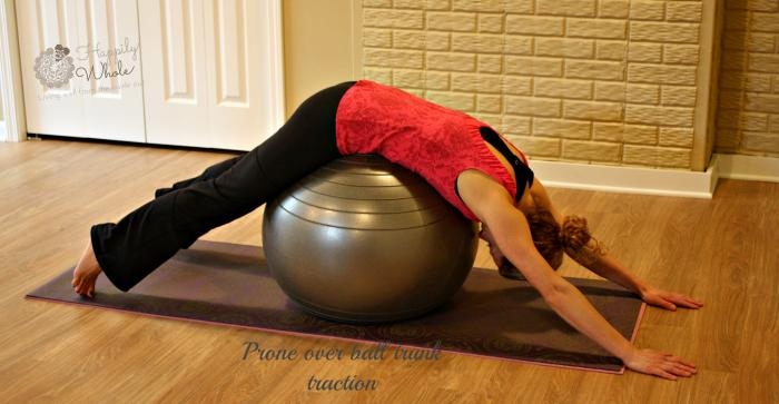 Prone over ball trunk traction