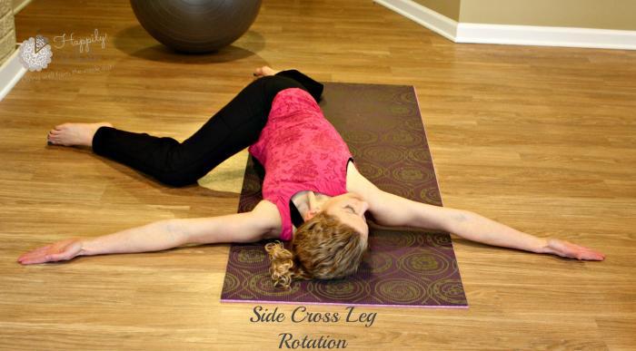 Side cross leg rotation